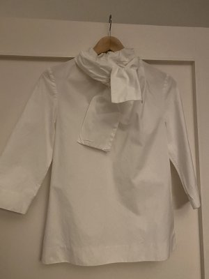 COS Blusa con lazo blanco Algodón