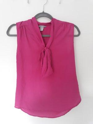 H&M Blouse avec noeuds rose