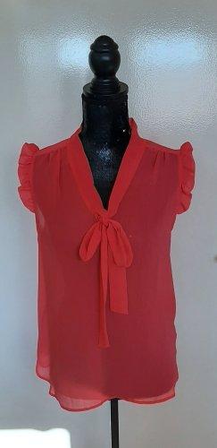 Athmosphere Blusa trasparente rosso lampone