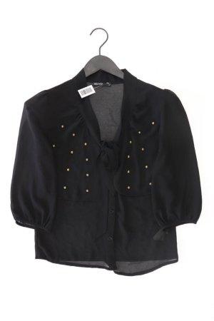 Blouse avec noeuds noir polyester
