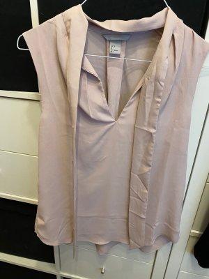 H&M Blusa con lazo rosa empolvado