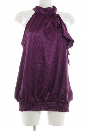 Blouse avec noeuds violet tissu mixte