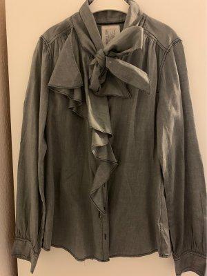 Opus Tie-neck Blouse grey-dark grey