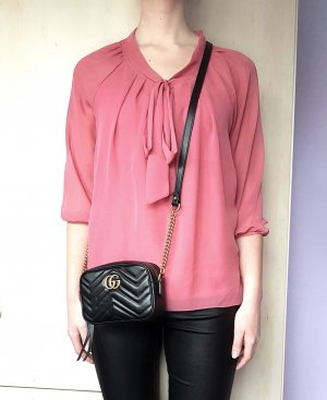 Only Tie-neck Blouse pink-salmon polyester