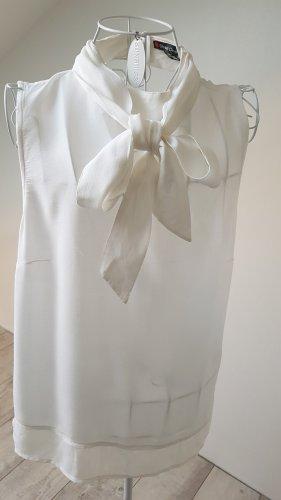 Street One Blouse avec noeuds blanc cassé