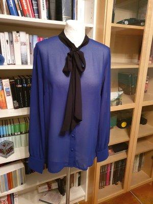 Schluppenbluse von Vila, Gr. L (40) Bluse Langarm blau/schwarz €35,-