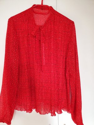 Tie-neck Blouse red