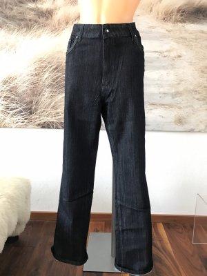 SCHLUSSVERKAUF!!! * Dunkelblaue Jeans von FEN * mit Stickerei und Strassverzierung * 48/50 * Neu mit Etikett