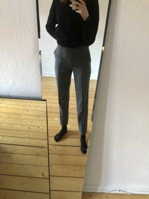 Vivance Pantalone a pieghe grigio-grigio scuro Tessuto misto