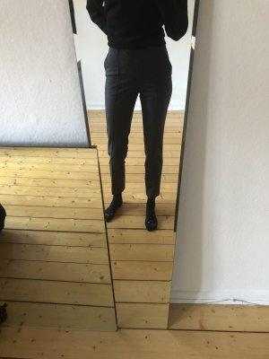 H&M Pantalone a pieghe grigio scuro-grigio Poliestere
