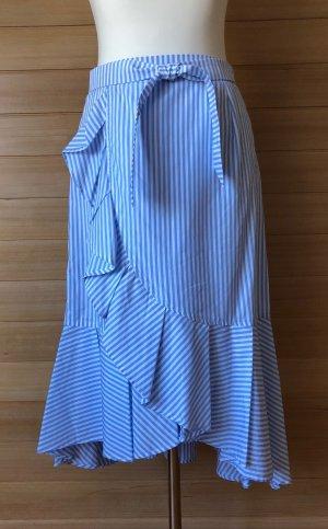 Claudie Pierlot Spódnica z falbanami biały-błękitny Bawełna