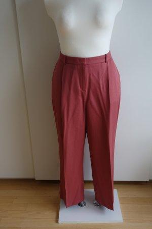 L.k. bennett Pantalone a pieghe rosso chiaro Lyocell