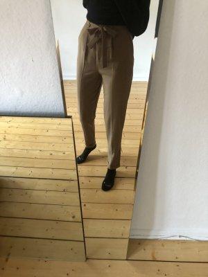 Asos Tall Pantalone a pieghe color cammello-ocra Poliestere