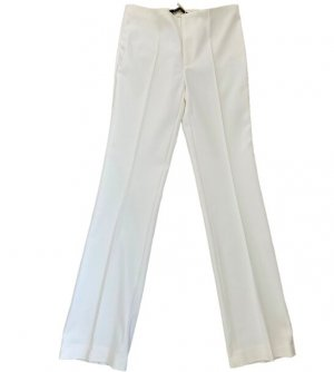 Zara Woman Spodnie materiałowe biały-jasnobeżowy Bawełna