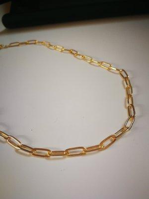 Schmale Gliederkette in gold Sterling S925