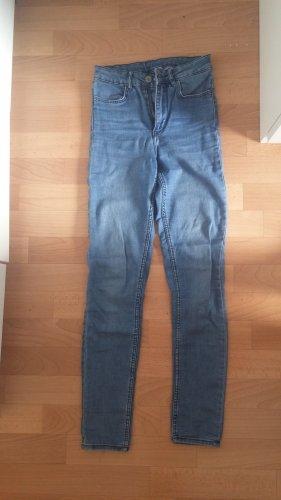 H&M Pantalon strech bleu pâle