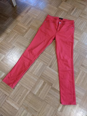 Black Label Pantalón de cinco bolsillos rojo ladrillo-rojo oscuro Algodón