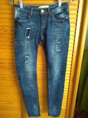 Sublevel Jeans stretch gris ardoise-bleu