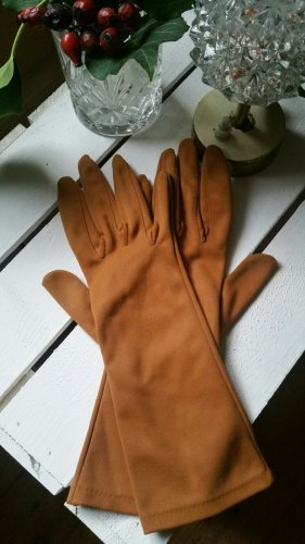 Guantes con dedos coñac