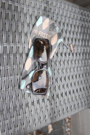 Fossil Gafas de sol cuadradas marrón oscuro Material sintético