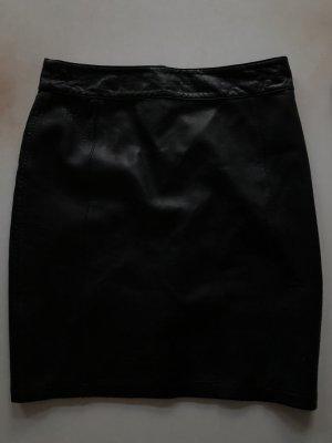 Alba Moda Ołówkowa spódnica czarny Skóra