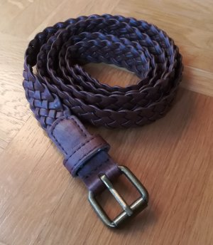 Cintura intrecciata bronzo-marrone