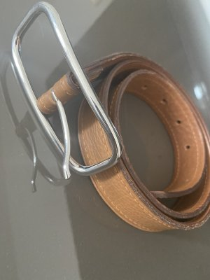 Windsor Skórzany pasek brązowy-cognac