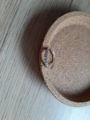 Schmaler Ring 925er Silber mit Zirkonia