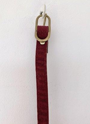 no name Cintura in ecopelle rosso scuro Tessuto misto