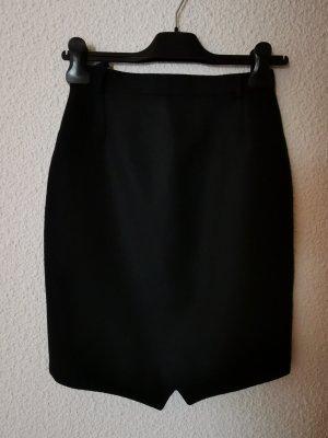 schmaler Wollrock in schwarz, Gr. 34