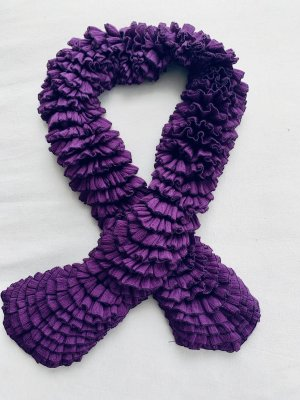 Crinkle Scarf multicolored synthetic