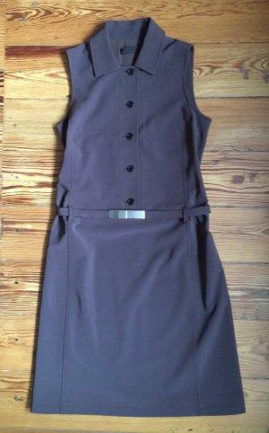 Prada Vestido tipo blusón marrón tejido mezclado