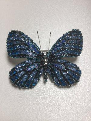 Spilla blu-argento