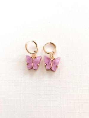 Créoles doré-lilas