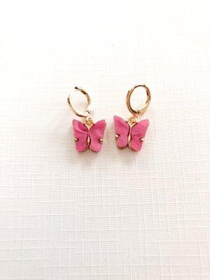Créoles doré-rose