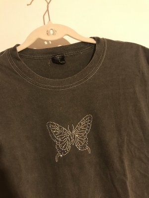 Schmetterling Diamanten Tshirt crop Urban Outfitters