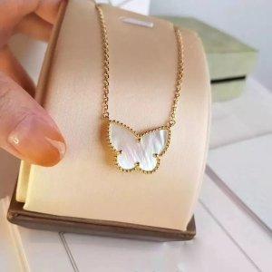 Schmetterling Halskette Gold beschichtet