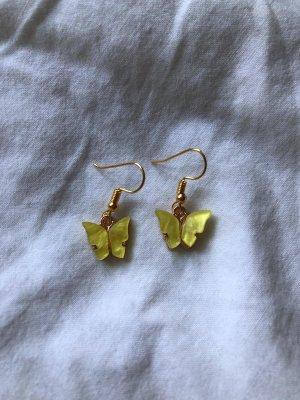 Schmetterling Ohrringe (gelb)