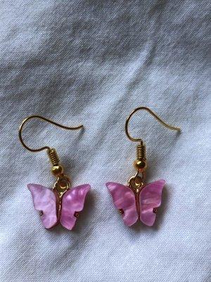 Schmetterling Ohrringe (rosa)