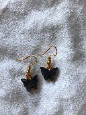 Schmetterling Ohrringe (schwarz)