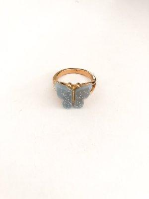 Złoty pierścionek złoto-jasnoszary