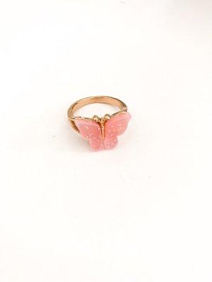 Złoty pierścionek złoto-różany
