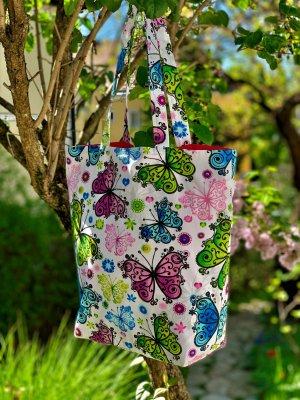 Schmetterling Shopper *handmade*