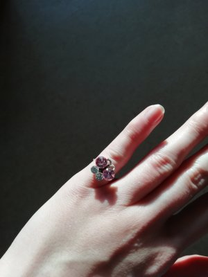 Anello di fidanzamento argento-color oro rosa
