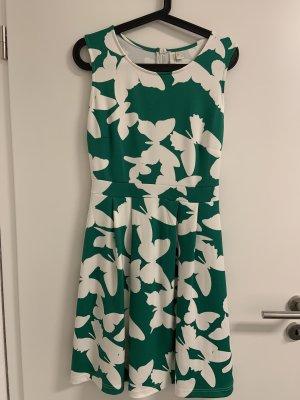 Bodyflirt Vestido elástico verde-blanco