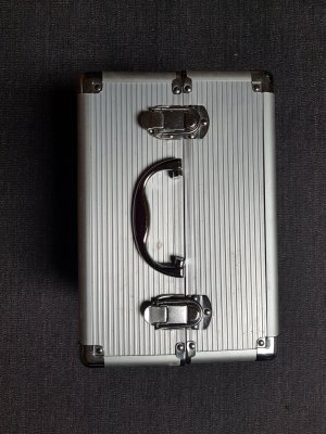 Cosmeticabox zilver