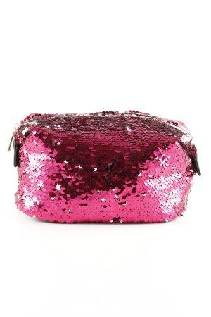 Borsa porta trucco rosa Arricchito con paillette