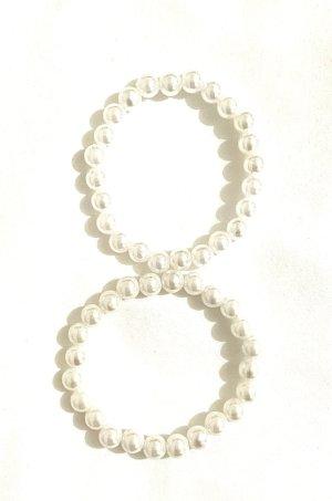 Schmuck 2 Stück Perlen Armreifen elastische Vintage