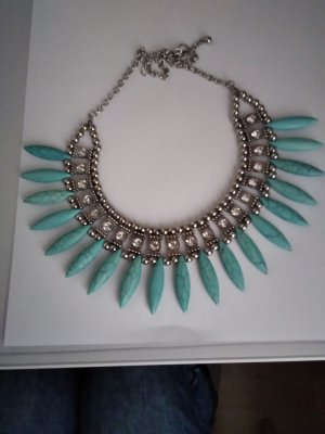 Bijou Brigitte Necklace silver-colored-turquoise