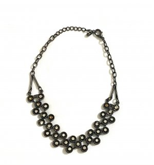 Vintage Collana nero-argento
